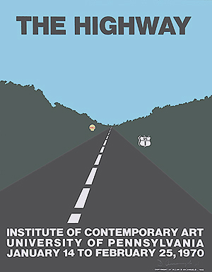 Allan D'arcangelo, The Highway - exhibition poster - signed, 0306.jpg