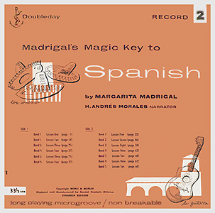 Andy Warhol, Madrigals Magic Key to Spanish 2 - 12inch LP - front cover, 0506.jpg