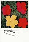 Flowers - signed artcard