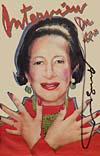 Interview - Diana Vreeland - signed