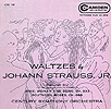 Waltzes by Johann Strauss Jr - 7inch EP - front cover